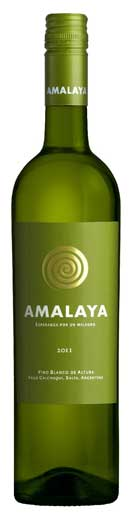 Fruity/aromatic; dry - AMALAYA, Torrontes-Riesling. Calchaquí Valley, Salta, Argentina