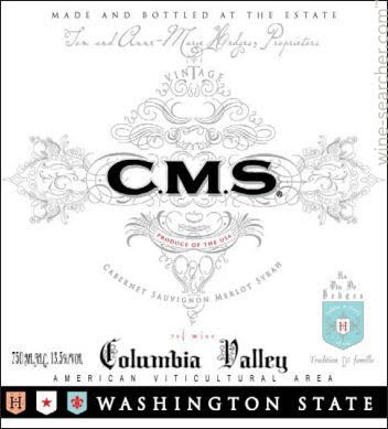 Full-bodied New World reds - CMS, Hedges Family Estate. Colombia Valley, Washington State, USA