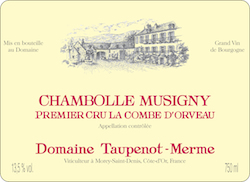 Burgundy - CHAMBOLLE-MUSIGNY, 1er Cru La Combe d\'Orveaux, Domaine Taupenot-Merme