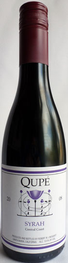 Red - SYRAH, Qupe. Central Coast, California (Half Bottle)