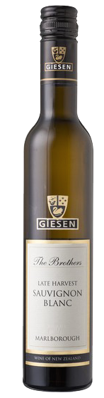 Light, lively styles - LATE HARVEST SAUVIGNON BLANC, 'The Brothers', Giesen. Marlborough, New Zealand (Half bottle)