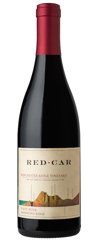 Pinot Noir - MANCHESTER RIDGE VINEYARD PINOT NOIR, Red Car. Mendocino, California