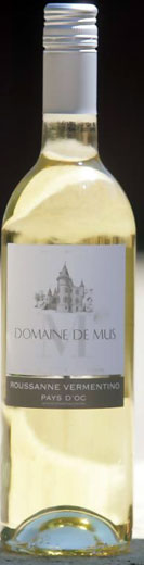 Fresh, dry whites, under £10 - ROUSSANNE-VERMENTINO, Domaine de Mus. Pays D'Oc, France