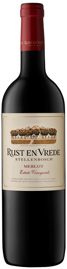 Powerful rich reds - MERLOT, Rust En Vrede. Stellenbosch, South Africa