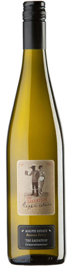 Fruity/aromatic; dry - GEWURZTRAMINER, 'The Salvation', Magpie Estate. Barossa Valley, Australia