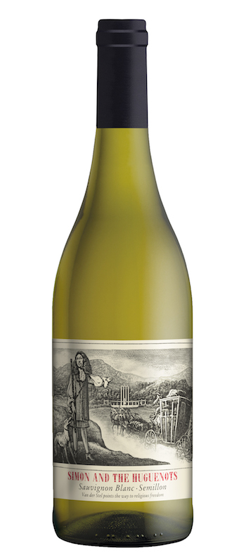 Fresh, dry whites - SAUVIGNON-SEMILLON, 'Simon and the Huguenots'. Stellenbosch, South Africa